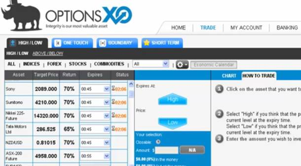 Optionsxo trading platform